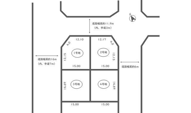 37cdce324c39df3d09c99ca40265d7ad 4 - 【州見台8丁目】3号地・売土地・建築条件なし・敷地面積220.35㎡(66.66坪)・間口14.4m!