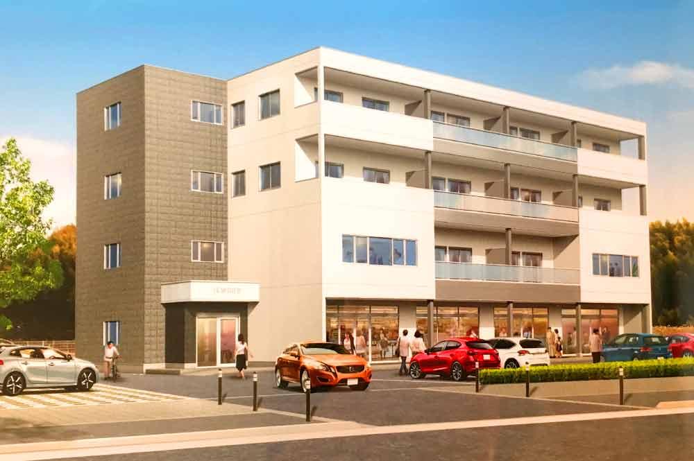5c52741b1d8e96c0c99784a0ee66e7d5 - 城山台の新築ビルの貸テナントと事務所。2020年4月中旬入居開始。メイン通り沿い。角地。