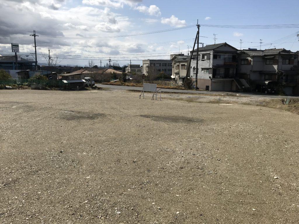 沿道サービス・駐車場・資材置場などに!奈良市白毫寺の賃貸土地 R003