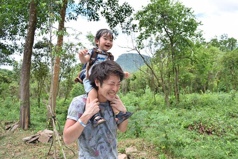 木津川市で田舎暮しをする親子