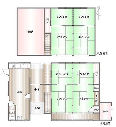 image 1 - 【ご成約済】田舎暮らしを賃貸の古民家から!納屋・倉庫・8LDK・自宅に作業場!
