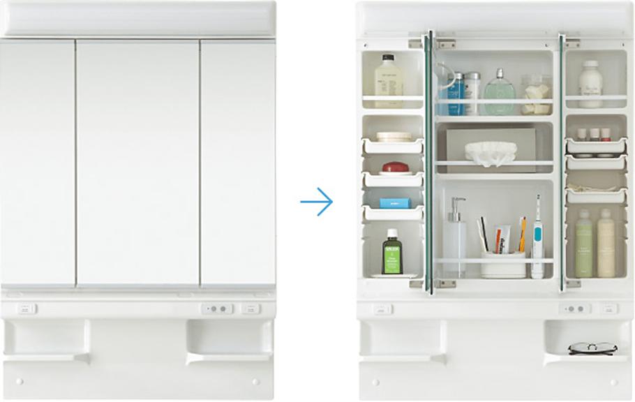 pic cabinet01 02 - 2LDK 城山台のエアコン付き新築賃貸マンション 2020年4月中旬 京都府木津川市